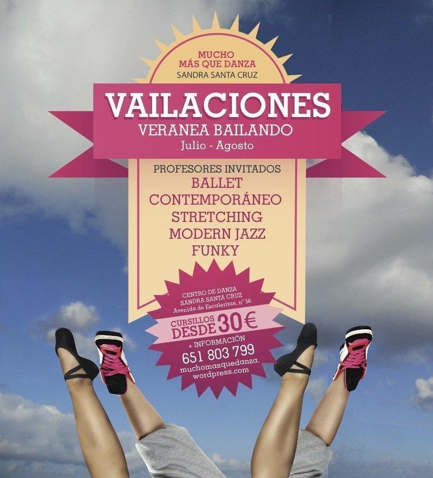 Cartel del Centro de danza Sandra sAnta Cruz_Vailaciones