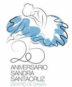 Logotipo del 25 Aniversario del Centro de Danza Sandra Santa Cruz